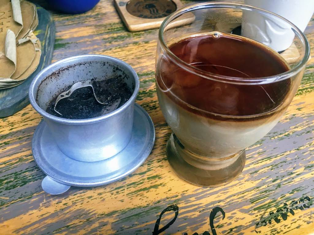Vietnamese drip coffee is one of traditional types of Vietnamese coffee I Coffee in Vietnam by WorldTravelConnector.com I Traditional Vietnamese coffee I Vietnam Drip Coffee