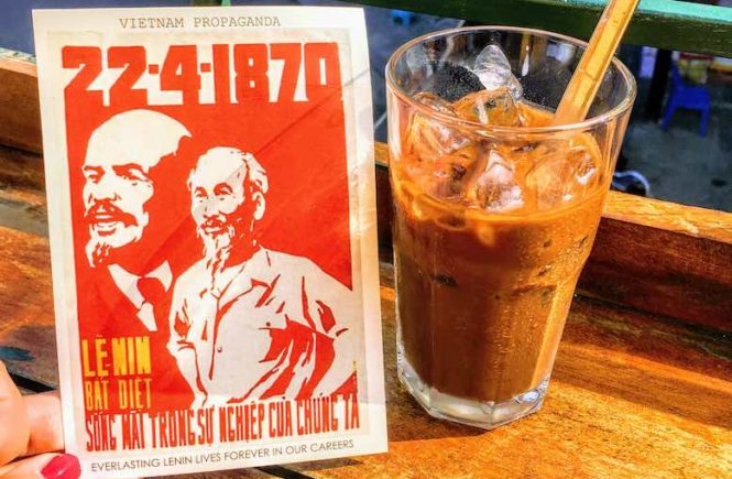 Vietnamese iced coffee is one of traditional types of Vietnamese coffee