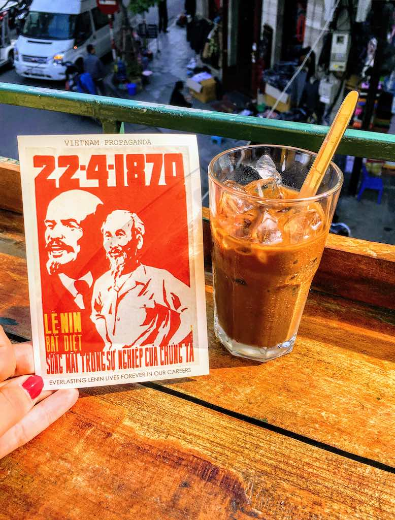 Vietnamese iced coffee is one of traditional types of Vietnamese coffee I Coffee in Vietnam by WorldTravelConnector.com I Vietnamese Drip Coffee I Traditional Vietnam Coffee