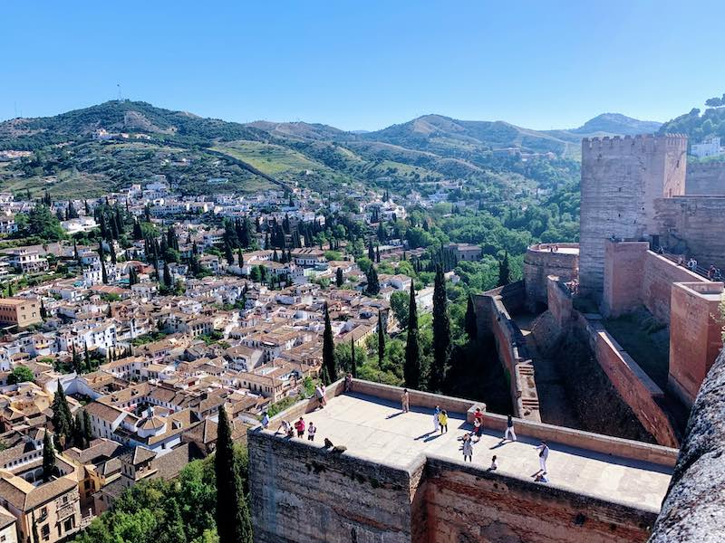 one of the Alhambra tips is for the best views of Granada to go to Alcazaba fortress