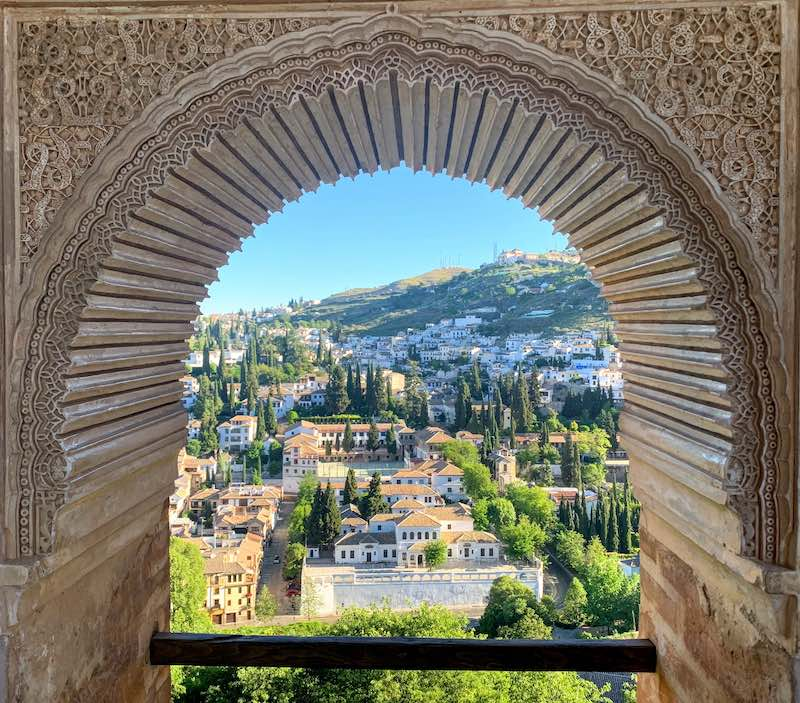 Alhambra tips view of Granada from the Torre de Las Damas