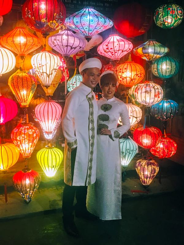 Couple in Hoi An in Vietnam
