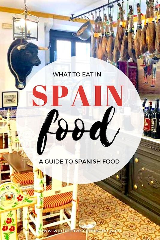popular Spanish dishes and drinks