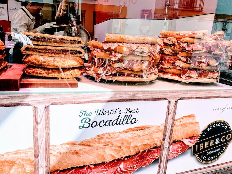 Bocadillo is one of the most popular food in Spain