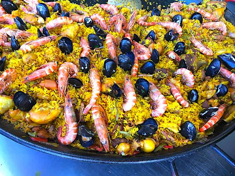 Shrimps and mussels paella is well-liked dish in Spain
