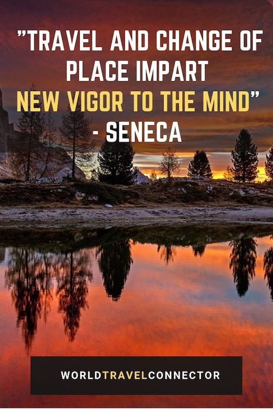 "Seneca's quote about travel is one of the best adventure quotes: ""Travel and change of place impart new vigor to the mind."" #inspirational #quotes #travel #adventure"