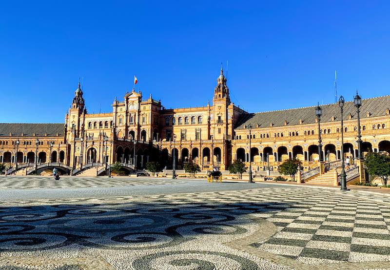 Plaza de Espana in Seville should be on any Andalucia road trip itinerary