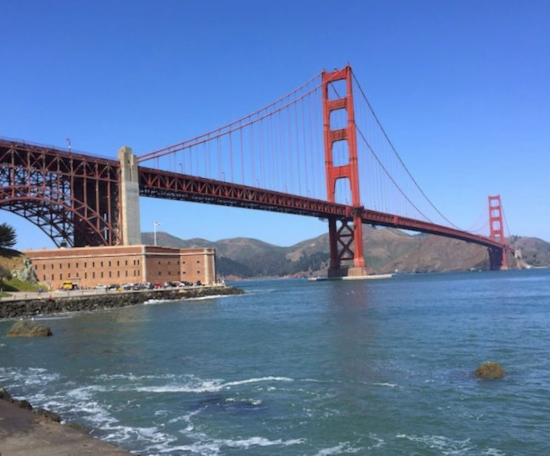 Golden Gate Bridge in San Francisco San Francisco as a part of USA southwest road trip