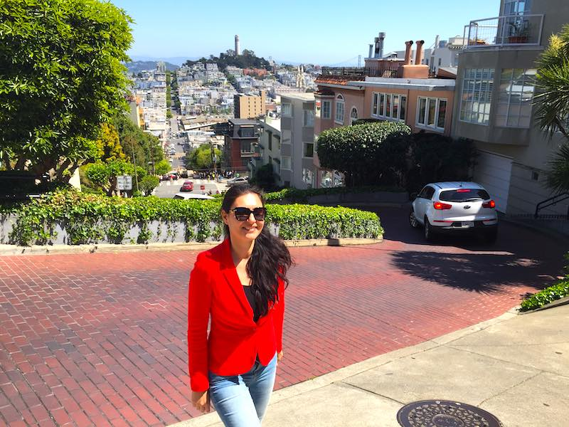 Lombard Street in San Francisco San Francisco as a part of USA southwest road trip