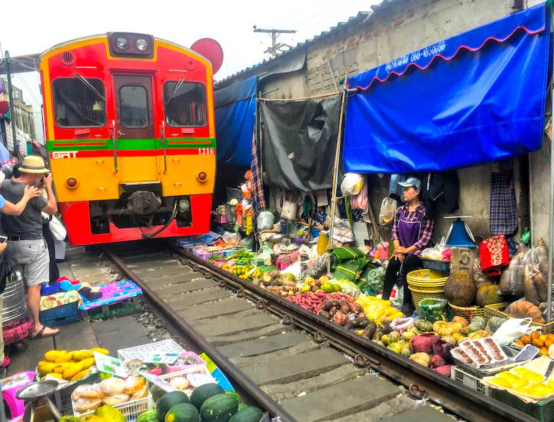 Train Market in Bangkok should be on any 10 day Thailand itinerary