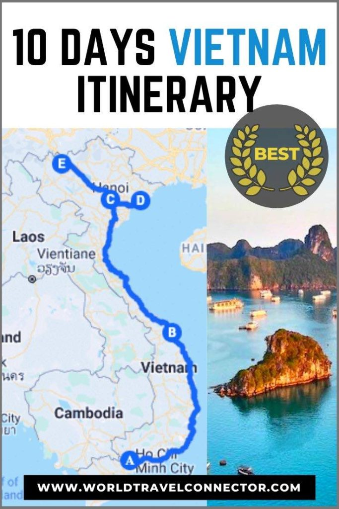 10 day Vietnam itinerary route