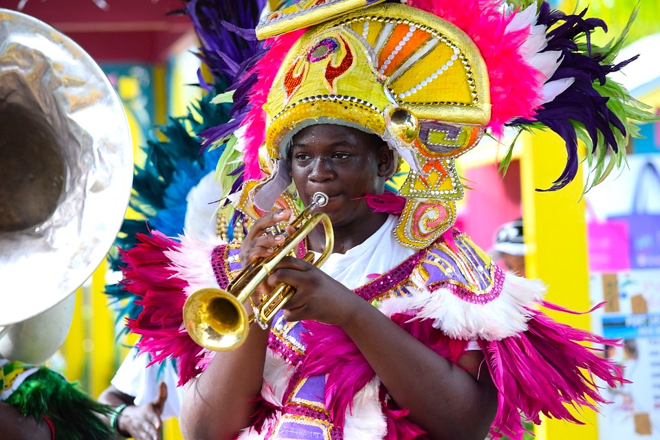 Junkanoo Festival in Nassau at Christmas in Bahamas in winter