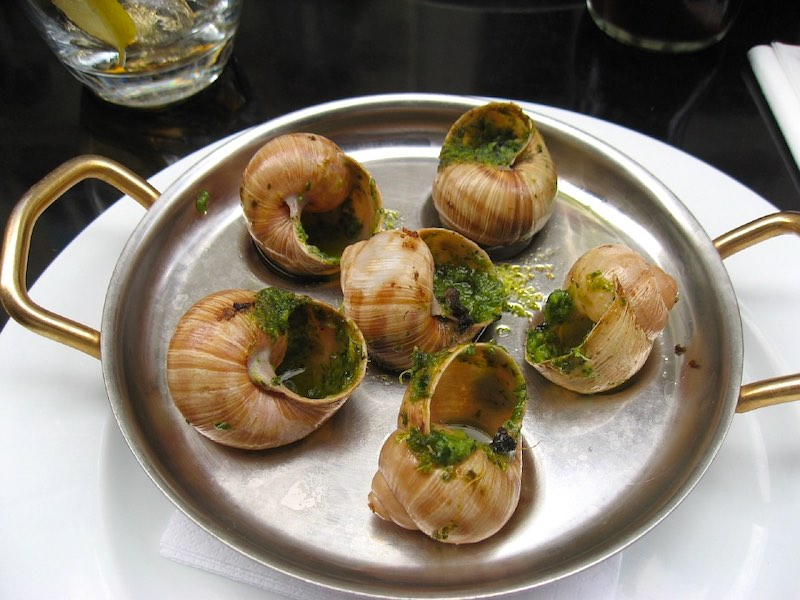 French escargots snails are  are one of the most famous foods around the world