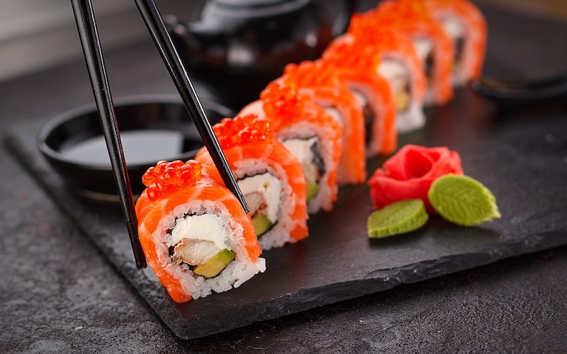 Japanese sushi is one of the most famous foods around the world