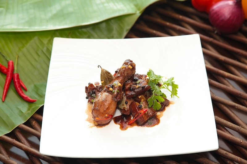 Chicken adobo is a famous dish from the Philippines