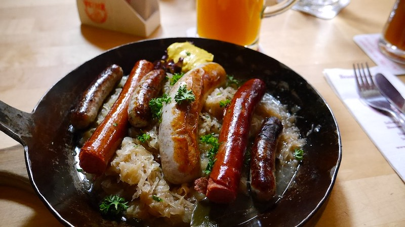 German Bratwurst is one of the famous foods around the world