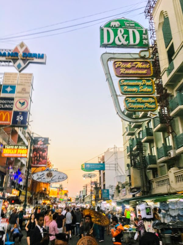 Strollin famous Khao san road is one of top things to do in Bangkok