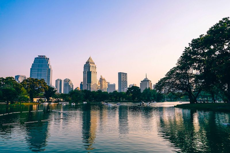 Relaxing in Lumpini Park is one of the top things to do in Bangkok