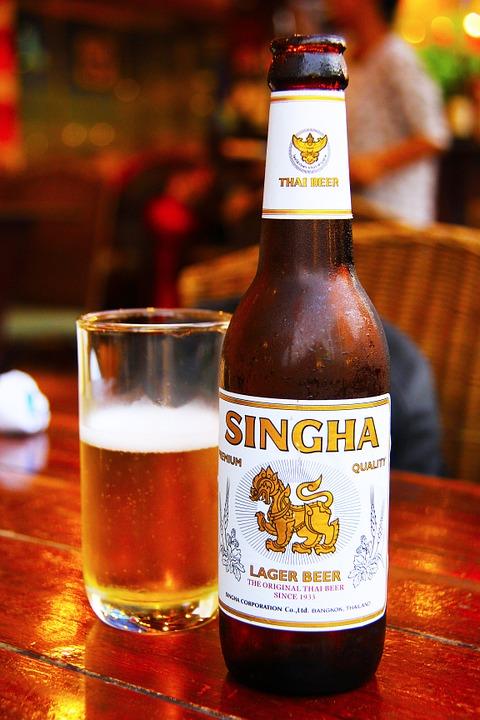 Sampling local Thai beer like Singha beer is one of top things to do in Bangkok