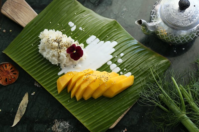 Indulging in Mango sticky rice is one of the top thing to do in Bangkok