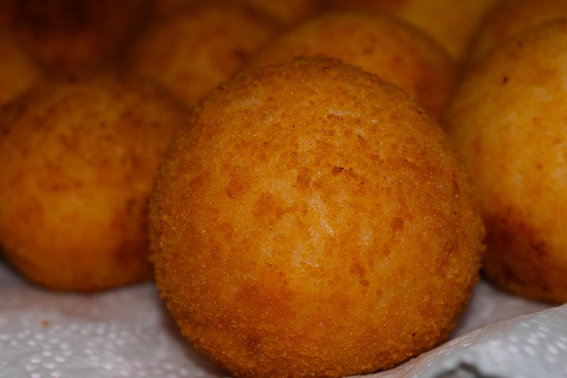 Arancini are common foods in Italy