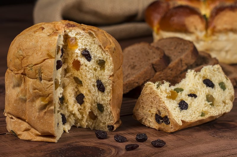 Panettone is popular sweet bread and one of the most famous traditional foods in Italy