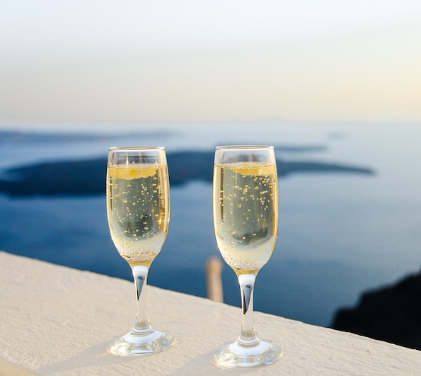 Prosecco is famous Italian sparking wine