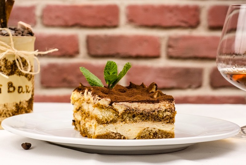 Tiramisu is a popular Italian cake and one of most famous traditional foods in Italy