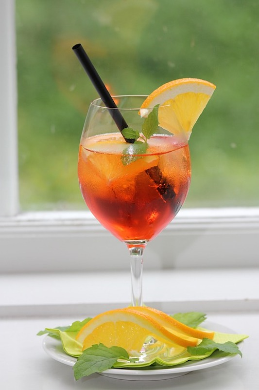 Aperol spritz is famous Italian drink