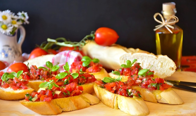 Bruschetta is famous food in Italy