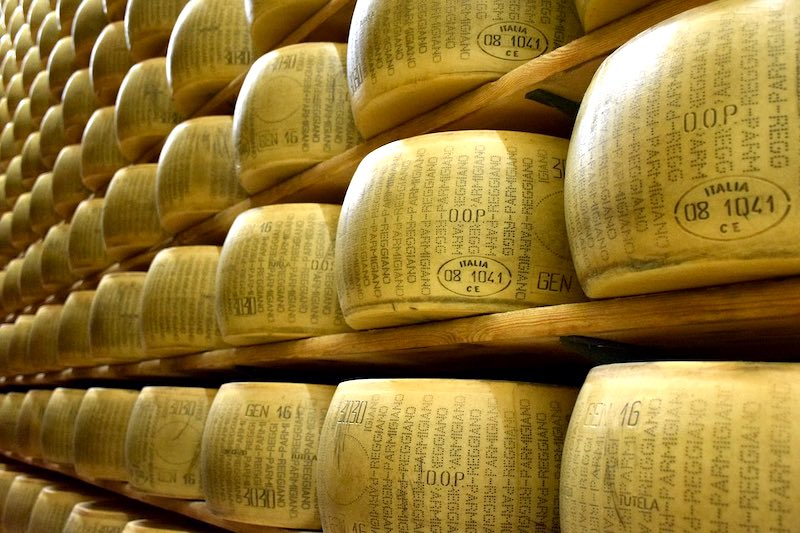 Parmigiano Reggiano is one of the most famous foods in Italy