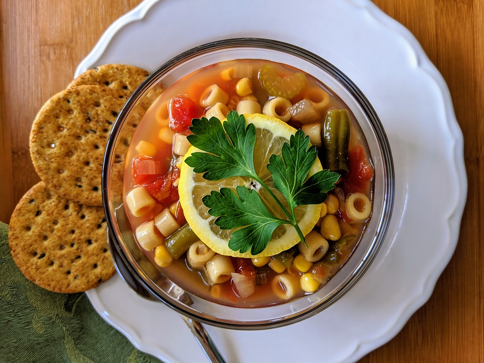Italian minestrone soup is one of the most traditional foods in Italy