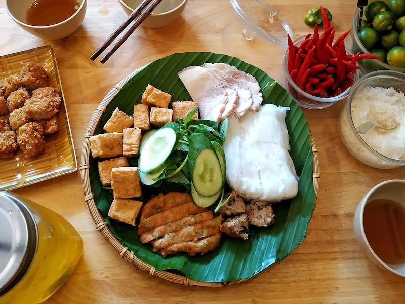 Bun Dau Mom Tom  dish is some of the best Vietnamese food in Vietnam