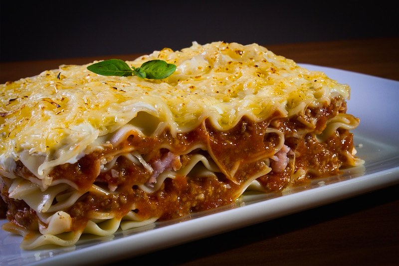 Lasagne are famous traditional foods in Italy