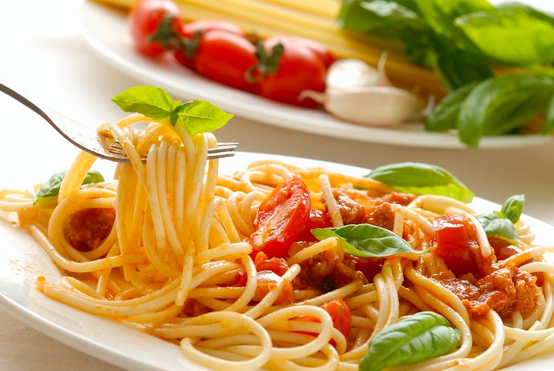 Spaghetti are traditional foods in Italy