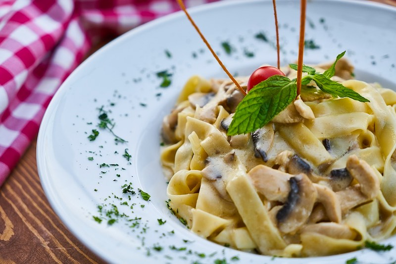 Pappardelle are famous Italian foods