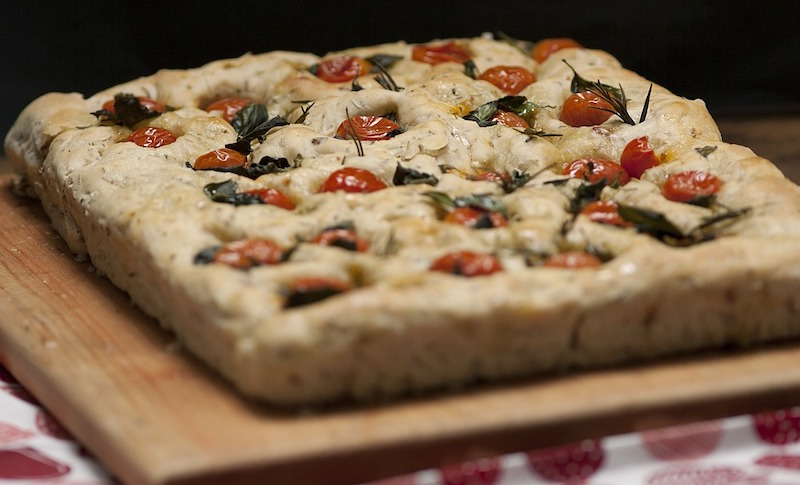 Focaccia is one of the most famous traditional foods in Italy