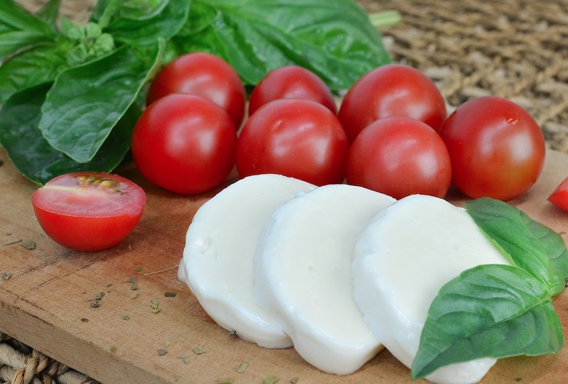 Mozzarella cheese is one of famous traditional foods in Italy