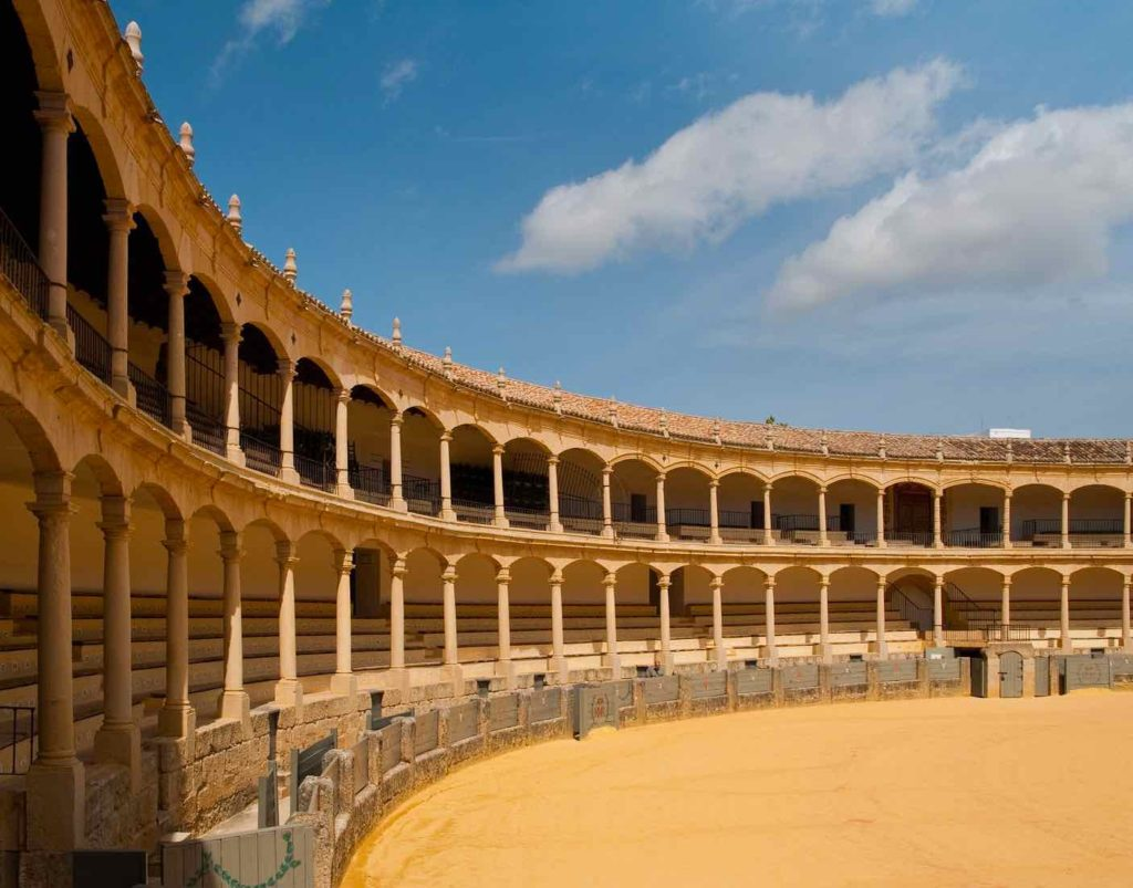 Bullring in Ronda is a popular attraction in Spain
