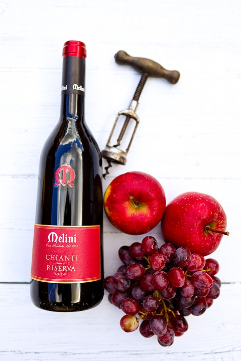 Chainti wine is one the most popular Italian drinks in Italy
