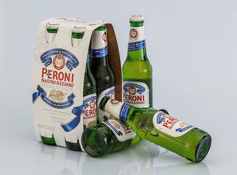 Peroni beer is among the most popular Italian drinks in Italy