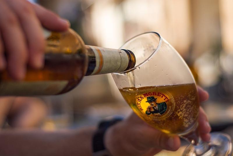 Birra Moretti is among most popular Italian drinks in Italy