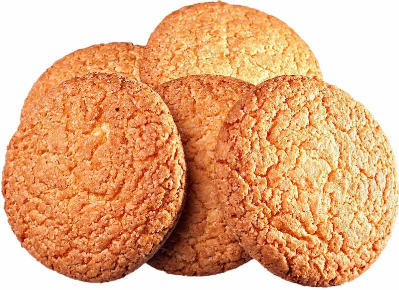 Ginger biscuits are traditional English dessert