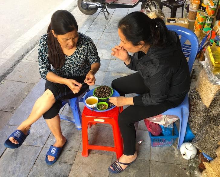 Snails are popular food in Vietnam