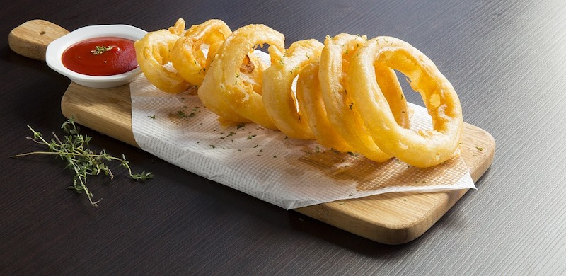 Deep fried onion rings are some of the most popular foods in Britain