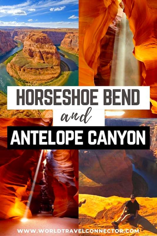 guide how to get from Horseshoe Bend to Antelope Canyon in Arizona