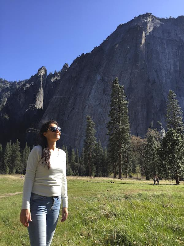 Milijana Gabric from World Travel Connector.com visiting Yosemite from San Francisco