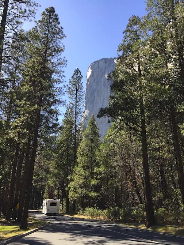 Visiting Yosemite from San Francisco by a camper van