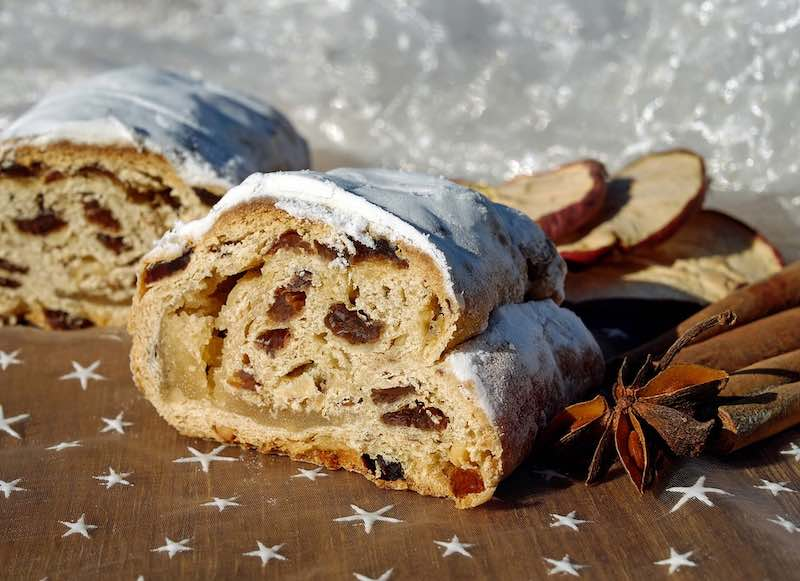 Austrian Christstollen cake is a must have in Vienna for the best Christmas in Europe