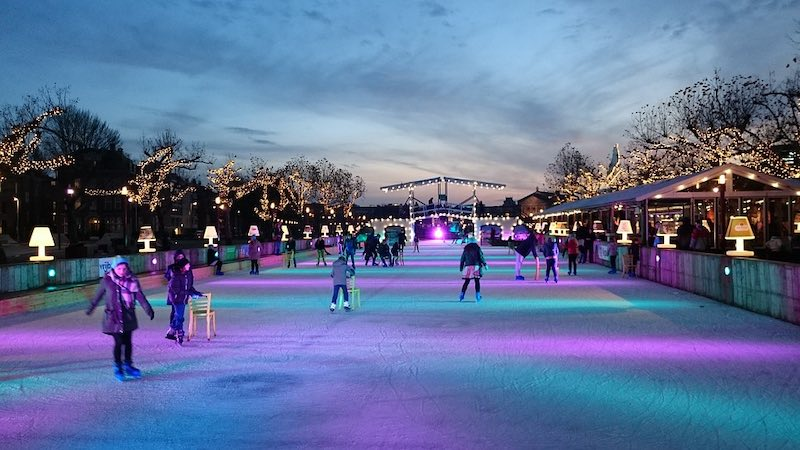 Skating on Christmas markets' skating rinks  is one of the best things to do to for the best Christmas in Europe
